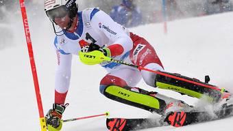 Ramon Zenhäusern führte erstmals das Klassement nach dem ersten Lauf eines Weltcup-Slaloms an