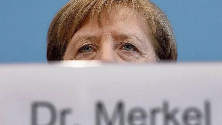 Kam erst spät aus der Deckung: Angela Merkel.