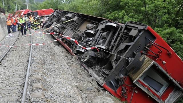Der Zug entgleiste kurz vor der Ortschaft Fiesch (Archiv)