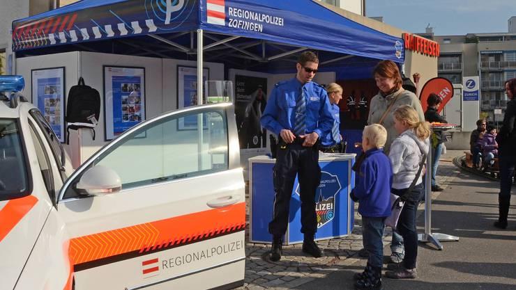 Der Stand der Regionalpolizei Zofingen am Herbstmarkt vor zwei Jahren.