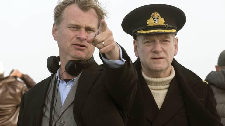 """Das Kriegsdrama """"Dunkirk"""" mit Christopher Nolan (l) und Kenneth Branagh (r) ist für die Golden Globes 2018 nominiert. (Archiv)"""