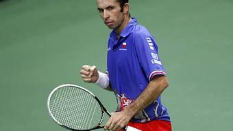Stepanek ballt die Faust und holt mit Tschechien den Davis Cup