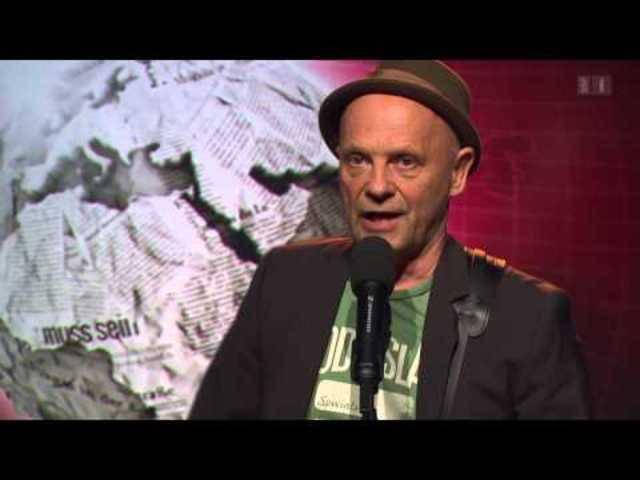 Komiker unter sicht: Blues Max stellt am 2.11.2014 sein Programm bei «Giacobbo/Müller» vor.