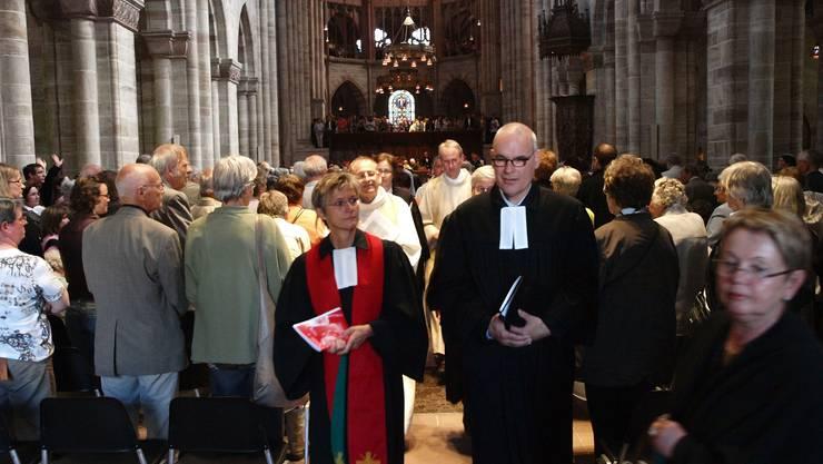 Gottesdienst zum Abschluss des 3. trinationalen Kirchentags am 29. Mai 2011 im Basler Münster.