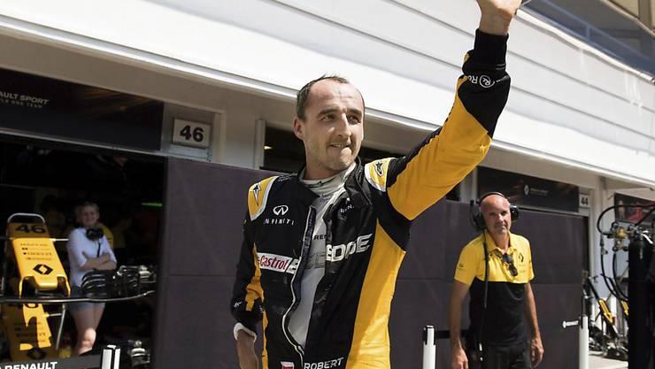 Robert Kubica begrüsst seine Fans