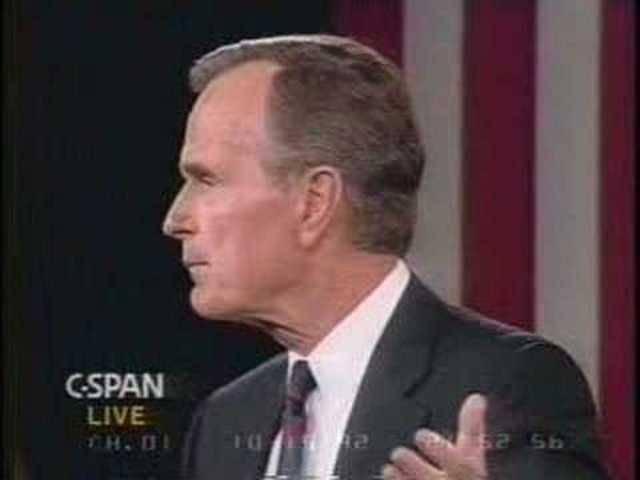 1992: George Bush gegen Bill Clinton