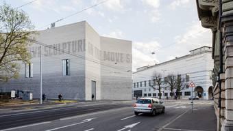 Raffinierter Fries am Neubau des Kunstmuseums