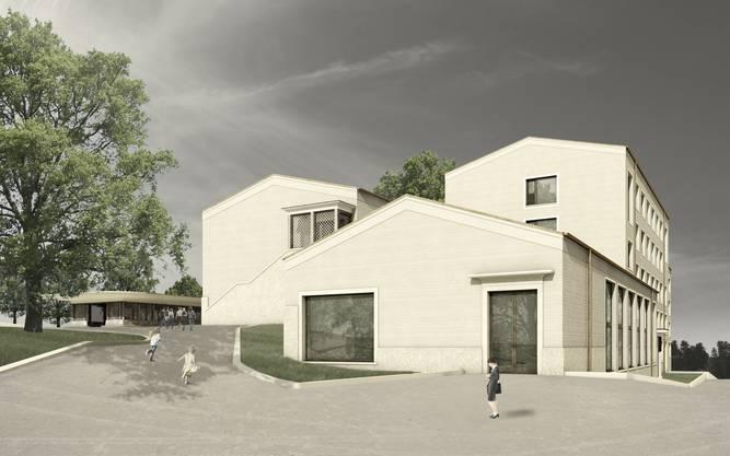 Das Schulhaus Hüslerberg aus den 50er-Jahren wird aufgestockt und erweitert.