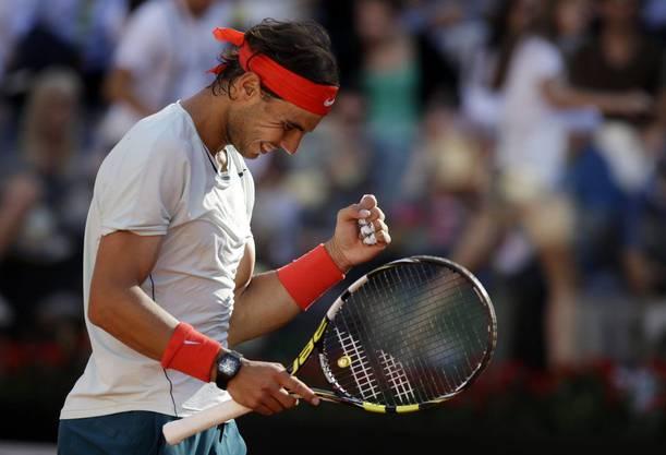 Rafael Nadal freut sich über den Sieg