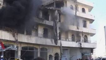 Nach einem Angriff der Luftwaffe auf Aleppo (Archiv)
