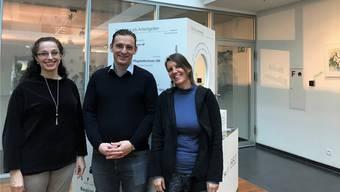 Anita Berger, Daniel Lukic und Barbara Zemann (v.l.) decken mit Spitex und Familienhilfe viele Bedürfnisse ab.