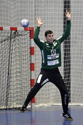 Endingens neuer Goalie Vit Schams in Aktion.