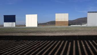 Die Testphase für die Prototypen für die umstrittene Mauer zu Mexiko ist zu Ende. Die insgesamt acht Modelle werden nun abgerissen.