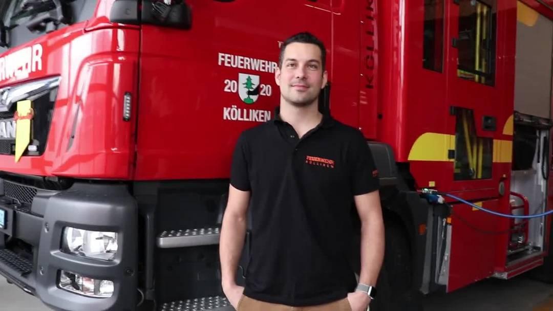 Fabian Bircher ist ab 2021 neue Kommandant der Feuerwehr Kölliken.