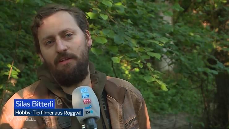 Silas Bitterli im Beitrag von Tele M1.