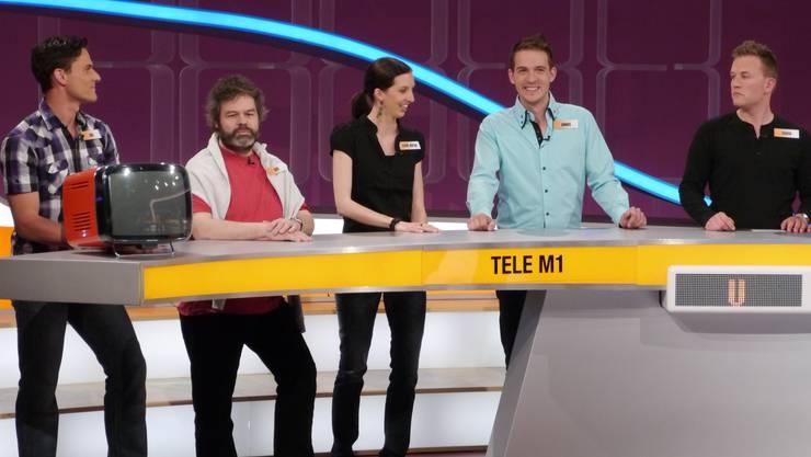 Die fünf Tele-M1-Mitarbeiter bei 5 gegen 5