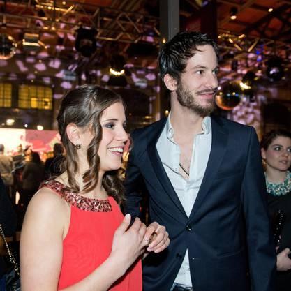 Georg Schlunegger ist auch an den Swiss Music Awards ein gern gesehener Gast - hier neben Sängerin Eliane Müller.