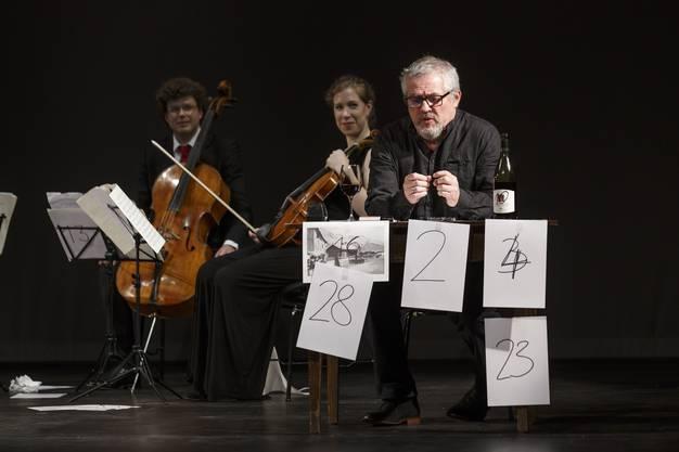 Günter Baumann an Peter Bichsels Geburtstagsfest