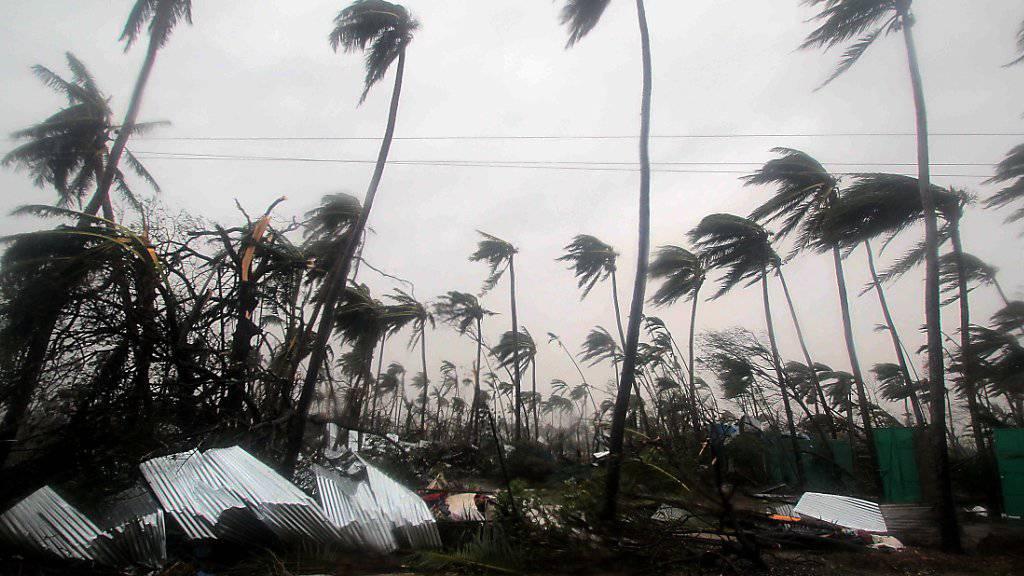 Der Zyklon wütet im Puri Distrik von Odisha.