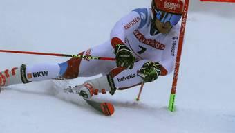 Loïc Meillard qualifiziert sich mit der neuntbesten Zeit sicher für die K.o.-Läufe in Alta Badia