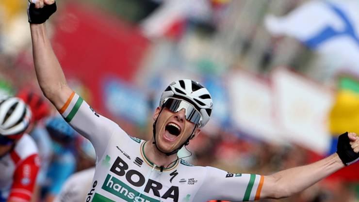 Der irische Meister Sam Bennett feierte in Oviedo seinen zweiten Etappensieg in der diesjährigen Spanien-Rundfahrt