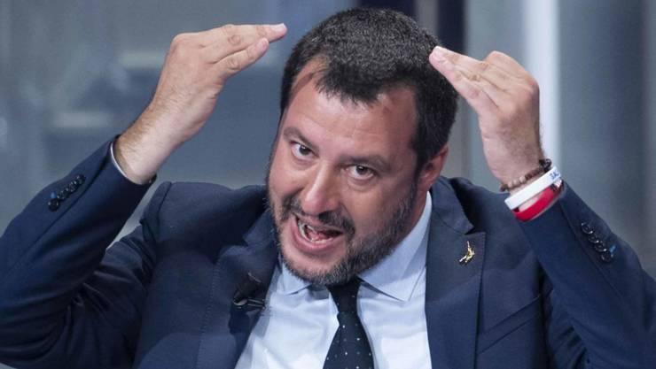 Die Wahlergebnisse in der «roten» Emilia-Romagna sind nicht im Sinne des Lega-Chefs Matteo Salvini gelaufen.