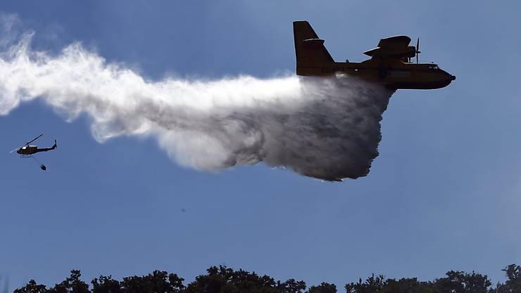 Die Notfallbehörden bekämpfen die Waldbrände auf der italienischen Ferieninsel Sardinien mit Löschflugzeugen. (Symbolbild)