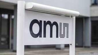 Der Chiphersteller AMS hat im Startquartal den Umsatz gesteigert: ein Schild der Firma in Rapperswil-Jona (Archiv).
