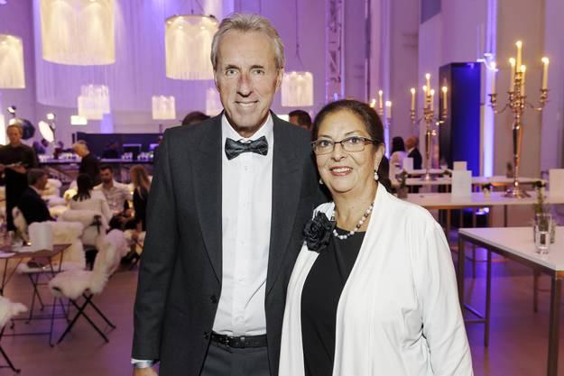 Marcus Wompman, winner NAB Award 2017 with his wife Carmen