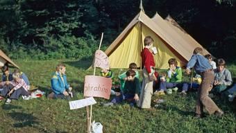 Ein Bild aus vergangenen Tagen: ein Zeltlager der Cevi Windisch im Jahr 1976.