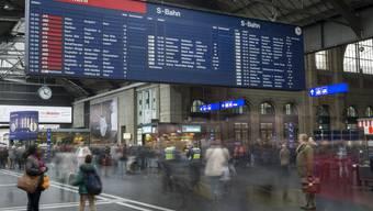 Der Hauptbahnhof Zürich ist momentan nur beschränkt befahrbar.