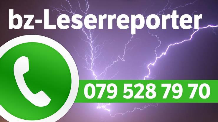 Schicken Sie uns per WhatsApp Videos, Bilder oder Hinweise an 079 528 79 70. Für jedes Video, das online geht, gibt es 50 Franken.