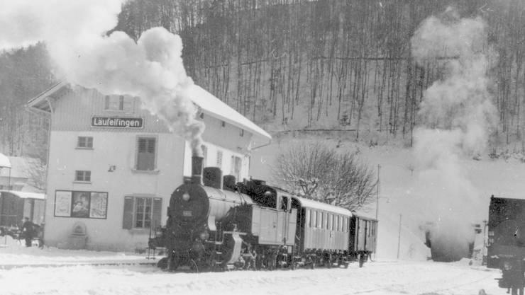 Bis in die 1950er-Jahre verkehrte das Läufelfingerli mit einer Dampflokomotive.