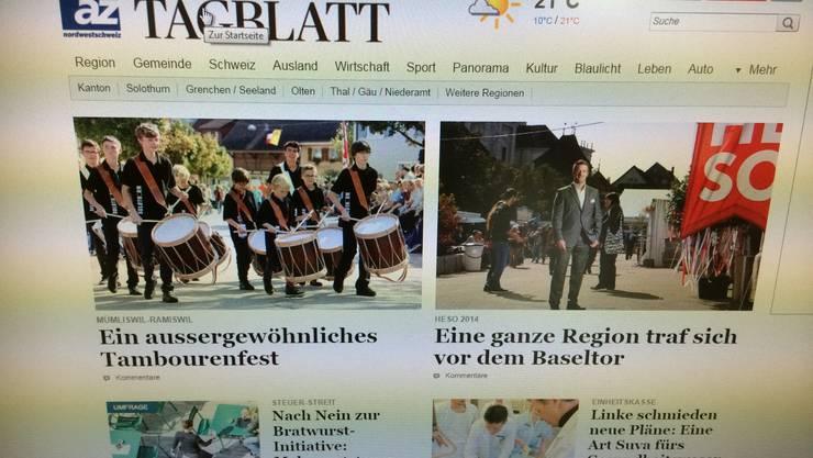 Das Grenchner Tagblatts ist analog zur Solothurner Zeitung neu aufgebaut.