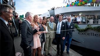 Christa Rigozzi taufte das Flussschiff «Excellence Princess» im Mai 2014. zvg