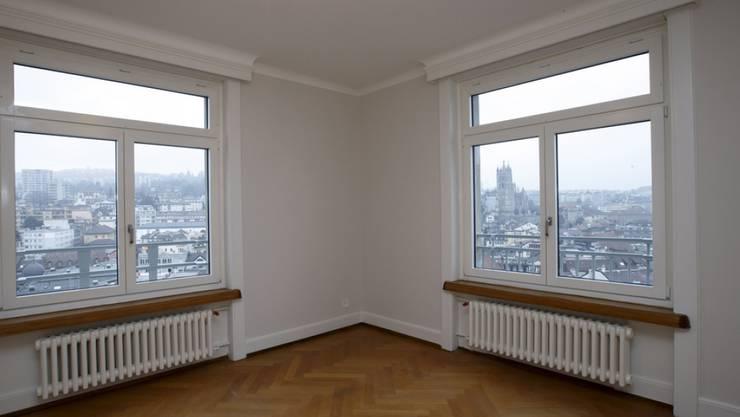 Die meisten leer stehenden Wohnungen haben drei oder vier Zimmer. (Archivbild)