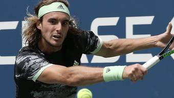 Vergeblich gestreckt: Stefanos Tsitsipas verabschiedete sich bereits in der 1. Runde vom US Open