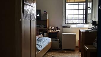Blick in die Zelle eines Häfltings im Gebäudetrakt für Verwahrte in Pöschwies (Archiv)