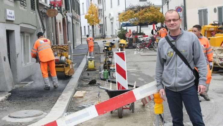 Mit Stefan Schluep von der Regio Energie auf dem Fernwärme-Spaziergang