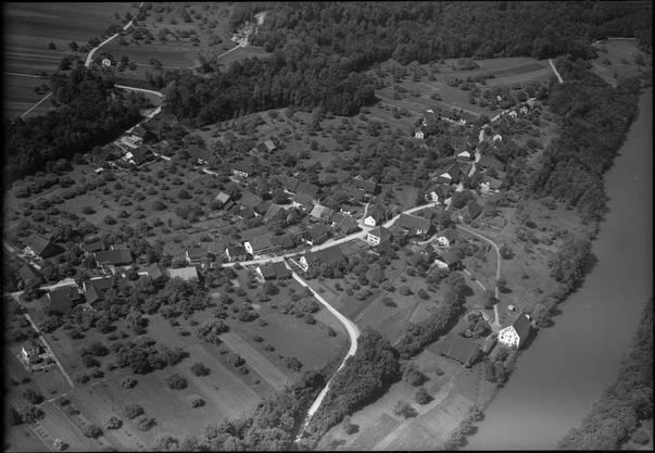 Fotograf Werner Friedli machte 1950 im Tiefflug diese Aufnahme von Mülligen.