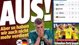 So titeln die Deutschen Nachrichtenportale nach dem WM-Aus