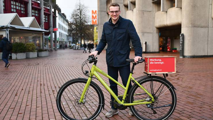 Der 22-jährige Jérôme Huber aus Schwaderloch ist Mitgründer der Start-up-Firma Working Bicycle.