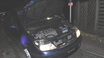Das nach einer Verfolgungsjagd von der Polizei in Rorschach SG sichergestellte Fahrzeug.
