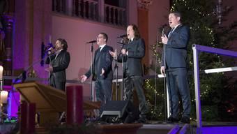 «I Quattro» singen sich in der St.-Mauritius-Kirche in die Herzen des Publikums.
