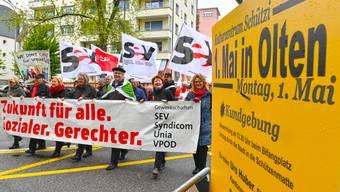 1.Mai-Feier und Kundgebung in Olten