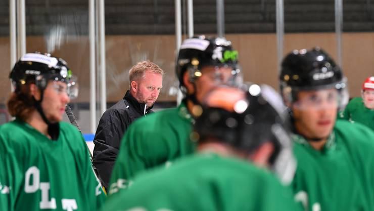 EHCO-Headcoach Fredrik Söderström durfte mit seinen Spielern mehrheitlich zufrieden sein.