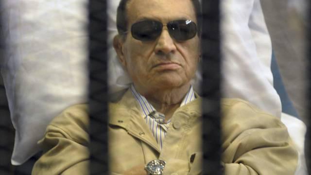 Der frühere ägyptische Staatschef Husni Mubarak auf einer Aufnahme vom 2. Juni 2012 (Archiv)