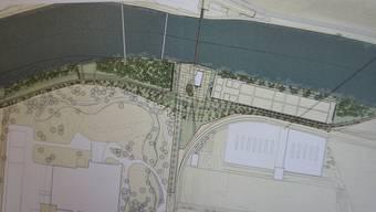 So sieht die Ausgangslage für den Uferpark Attisholz Süd aus.