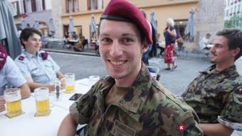 Die Soldaten der Infanterie in Aarau werden die Stadt vermissen