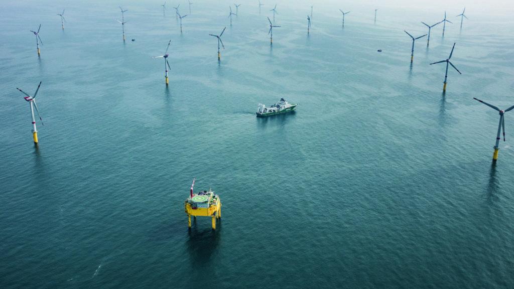 Mit 80 Windkraftanlagen kann der Nordsee-Windpark Global Tech I rund eine halbe Million Haushalte mit Strom versorgen.